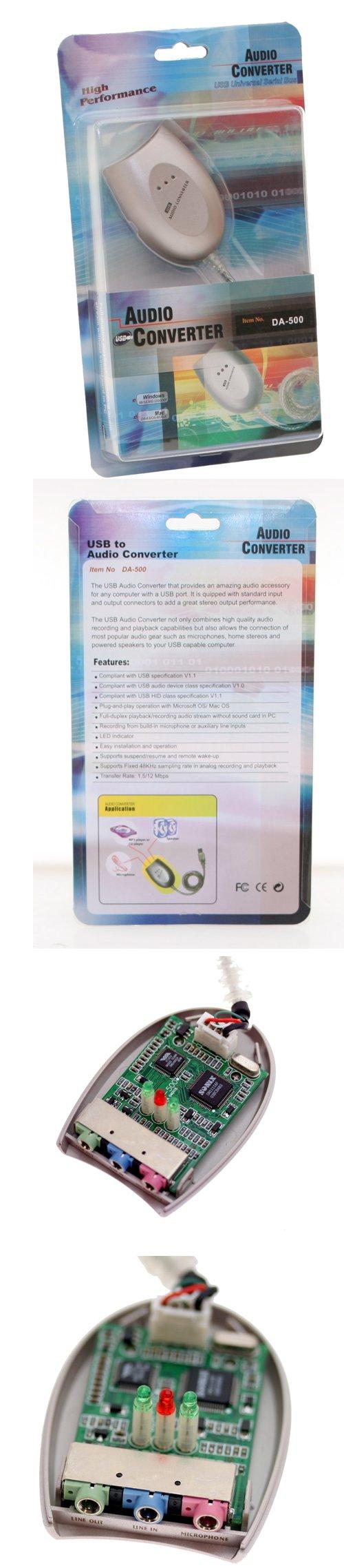 USB Digital to Analog Converter USB Sound Card (Sound Adapter) with Line-Input