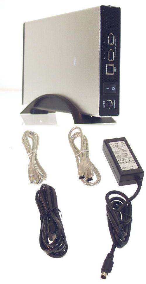 3.5-inch Aluminum External USB 2.0 + FireWire Enclosure
