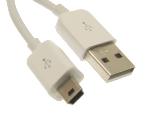 1ft. USB 2.0 Hi-Speed A to Mini B Device Cable Pure White