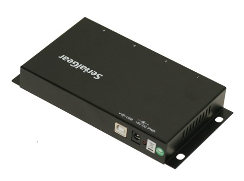 Industrial 4-Port DB-9 RS232 to USB Adapter with Isolation and Surge Protection