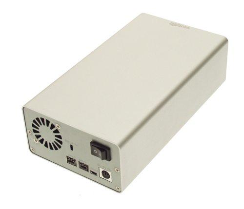 DUAL DRIVE FireWire 800  & USB 2.0 Combo to ATA Aluminum external enclosure