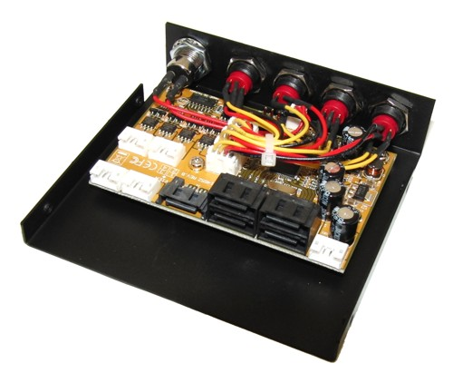 SATA HUB Port Multiplier JMB321-SW4 1-to-4 SATA2 Expander, 3.5-in Bay with Switches