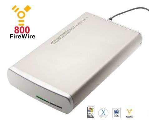 3.5 Inch HDD  Aluminum Oxford 922 Firewire 800 + USB 2.0 Drive Enclosure