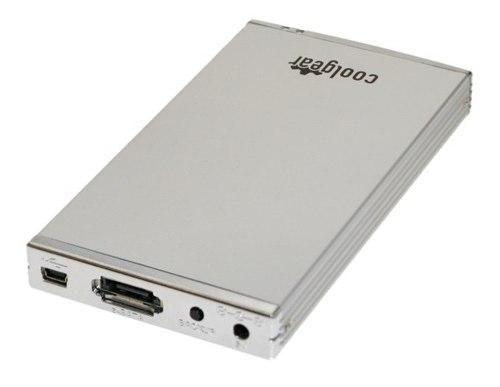 Silver 2.5 inch eSATA and USB 2.0  Portable Mini Drive Enclosure Aluminum