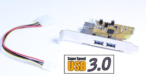 USB 3.0 2X2 Internal/External Ports PCI-e Card for Windows 7/Vista