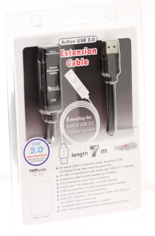 USB 3.0 extension cable 22ft. (7-Meter) A-Male to A-Female with Power Input