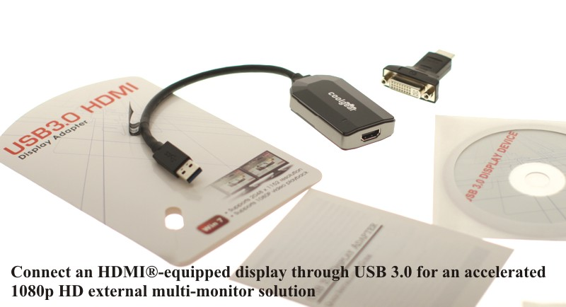 USB 3.0 to HDMI Converter HDTV Solution for Windows 7