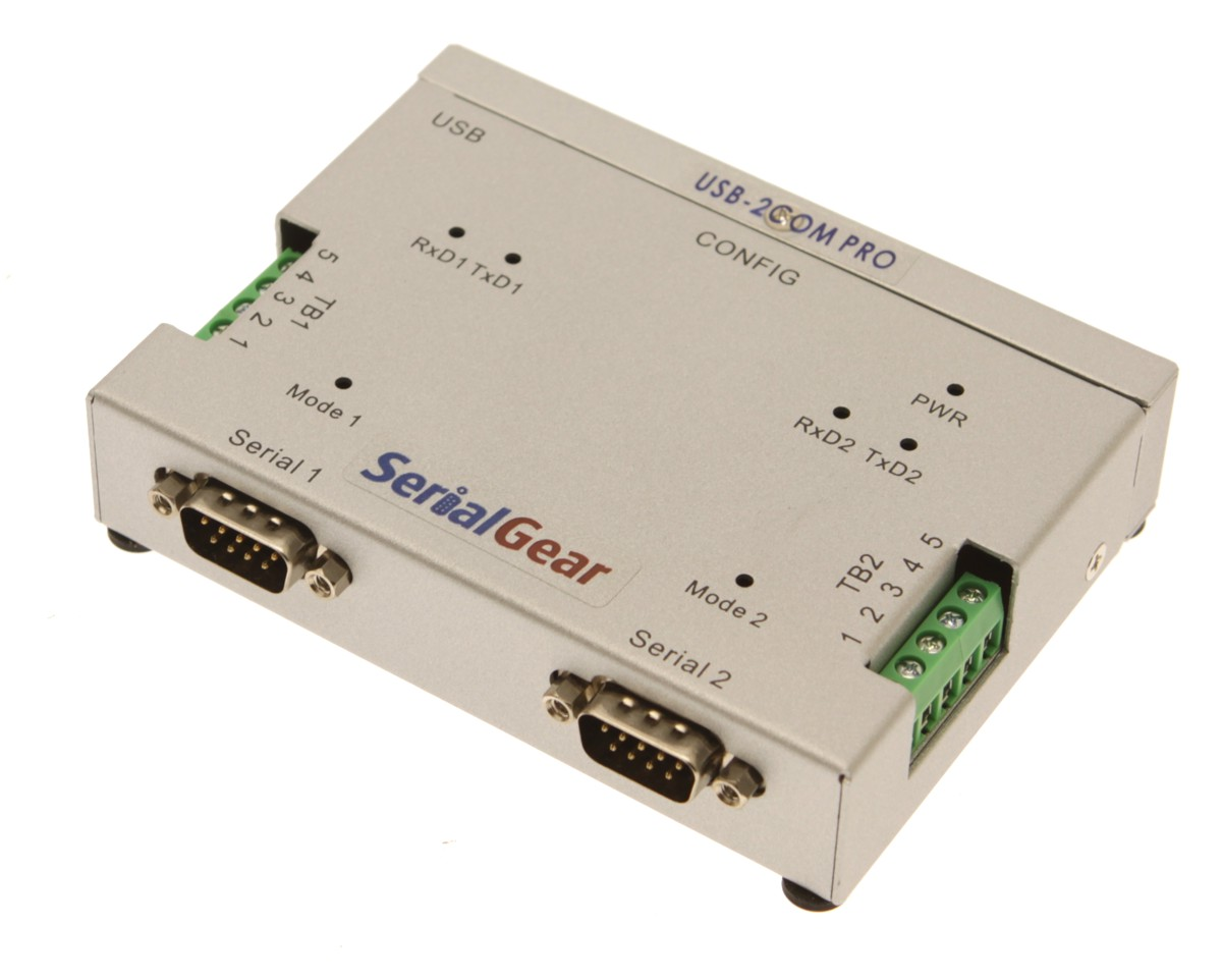 2 Port USB to RS-232/422/485 Auto Setup Adapter for Windows Linux and Mac