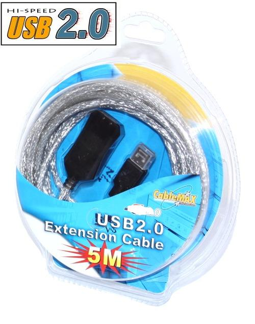 USB 2.0 High-Speed Active Extension Cable 16ft.