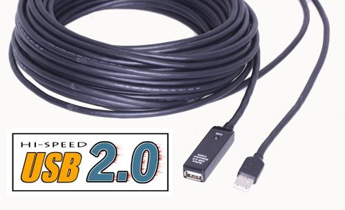 200Ft. Very Long USB 2.0 Extension Cable USB Active Extension Cable/Booster Cable