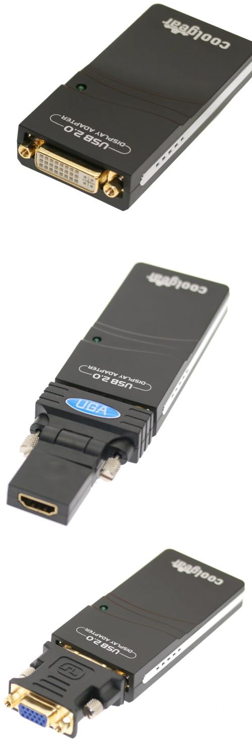 USB DVI External Graphics Card for XP and Vista up to 1600x1200 Resolution