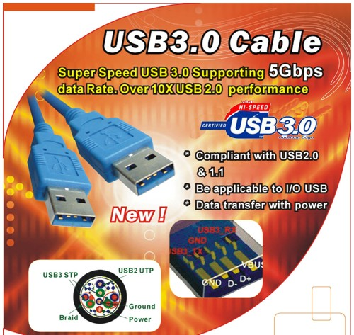 USB 3.0 Super High Speed Cable  3 Meter (10ft) Long